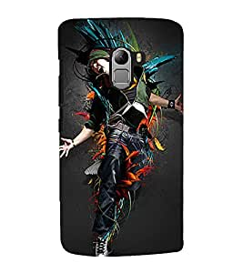 Vizagbeats dancing man colors Back Case Cover for Lenovo K4 Note