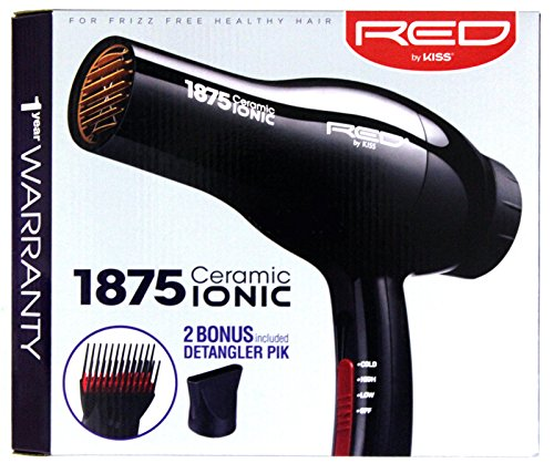 Red by Kiss Ceramic 1875 Ionic Blow Dryer (Blow Dryer Comb compare prices)