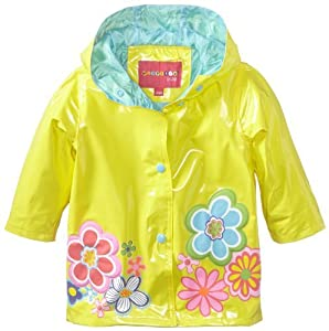 Wippette Baby-Girls Infant Floral Shiny Rainwear,Yellow, 18 Months Color: Yellow Size: 18 Months (Baby/Babe/Infant - Little ones) from Wippette