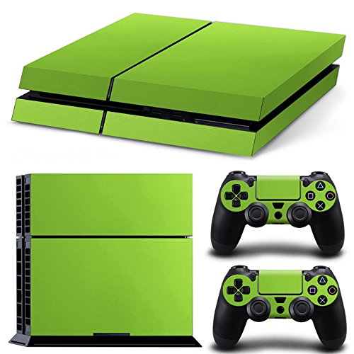 PlayStation 4 Designfolie Sticker Skin Set für Konsole + 2 Controller - Fiber Rough Green