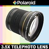 Super téléobjectif 3.5x de Polaroid Studio Series, inclut une housse d'objectif et les couvercles d'objectif pour l'Nikon D40, D40x, D50, D60, D70, D80, D90, D100, D200, D300, D3, D3S, D700, D3000, D5000, D3100, D3200, D7000, D5100, D4, D800, D800E, D600 Reflex numériques Qui avez l'une des (18-200mm, 24-120mm, 135mm, 180mm, 24-85mm, 24-120mm F3)Nikon lentilles