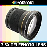 Polaroid Studio Series 3.5X HD Super Telephoto Lens, Includes Lens Pouch and Cap Covers For The Samsung NX-5, NX-10, NX-100, NX-200, NX20, NX210, NX300, NX1000, NX1100 Digital Cameras Which Has The 20-50mm Lens