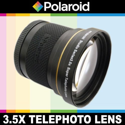 Polaroid Studio Series 3.5X Hd Super Telephoto Lens, Includes Lens Pouch And Cap Covers For The Pentax K-3, K-50, K-500, K-01, K-30, K-X, K-7, K-5, K-5 Ii, K-R, 645D, K20D, K200D, K2000, K10D, K2000, K1000, K100D Super, K110D, *Ist D, *Ist Dl, *Ist Ds, *I