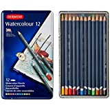 Derwent Watercolor Pencils, 3.4mm Core, Metal Tin, 12 Count (32881)