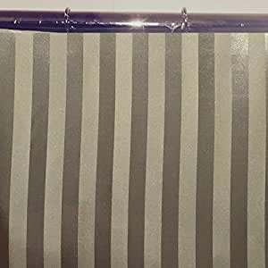 96 Extra Long Tuxedo Stripe Water Repellent Fabric Shower Curtain Or Liner Sage