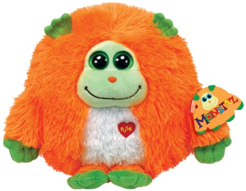 Ty Monstaz Chester Plush Toy, Orange/Green - 1