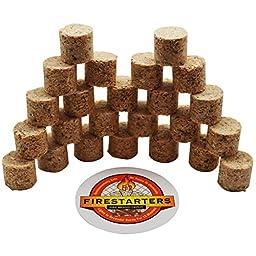 Fire Brand Depot FIRESTARTERS -- Fire-Starting Mini Pods for All-Natural Quick-Starting Fires (24)