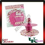 Cardboard Fairy Cup Cake Muffin Stand 2 Tier