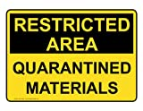 ComplianceSigns Vinyl Quarantine Label, 7 x 5 in. with English, Yellow