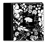 12&quot;X12&quot; BLACK AND WHITE FABRIC FRAME SCRAPBOOK - LANA - Photo Album