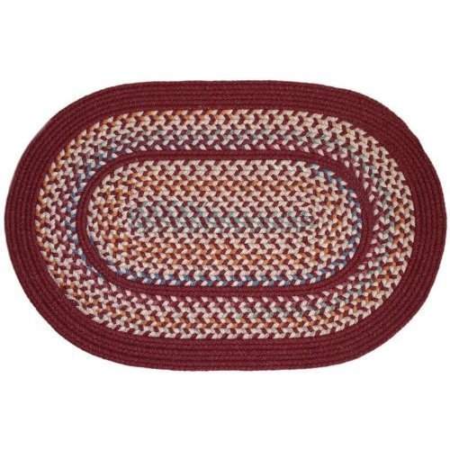 Rhody Rug TA-42-6R Tapestry Red Wine 6 ft. Round Braided Rug