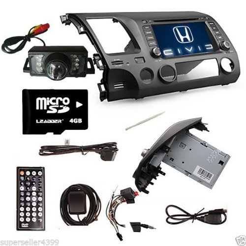 Ouku 7 Inch Car Dvd Player For Honda Civic 2006-2011 (Gps, Bluetooth, Tv)+Rear View Camera+Gps Map Card front-456207
