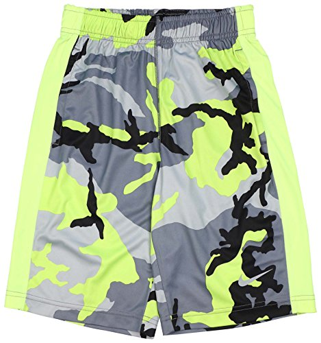 Nike Big Boys' (8-20) Dri-Fit Woodland Camo Fly Training Shorts-Black/Gray/Vol-L