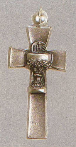 Small Crucifix - First Communion - Pendant - 1in. Height - IMPORTED FROM ITALY