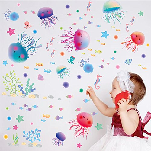 crazy-lin-under-the-sea-world-colorful-jellyfish-sea-horse-octopus-with-seaweed-removable-wall-decal