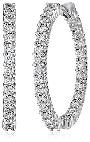 Roberto-Coin-Perfect-Diamond-18k-White-Gold-Hoop-Earrings-1-12cttw-G-H-Color-SI1-Clarity