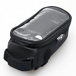 ロードバイクiPhoneトップチューブバッグ (ブラック) ReUdo RE-RDBK-TB