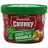 Campbell's Chunky Healthy Request Classic Chicken Noodle Soup, 15.25 Ounce Microwavable Bowls (Pack of 8) ~ Campbell's
