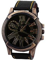 Watch Me Black Genuine Leather Analogue Watch For Men WMAL-066-B - B01L01NOZK