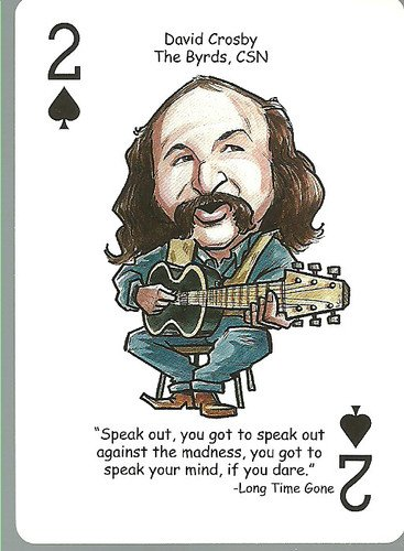 (3) David Crosby CSNY - ODDBALL Playing cards
