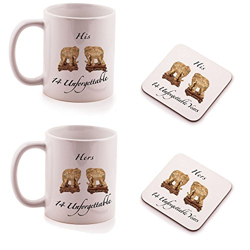 ivory-14th-wedding-anniversary-his-and-hers-mug-and-coasters-gift-set-2-pack