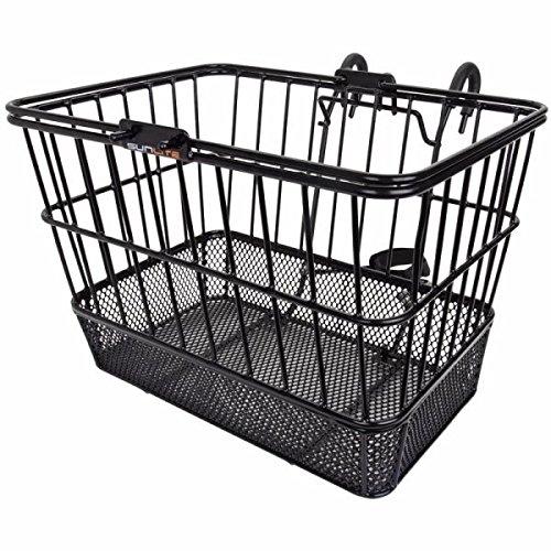 Sunlite Mesh-Bottom Lift Off Bicycle Basket, Black