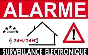 """Panneau de dissuasion """"alarme surveillance électronique"""" 160x100mm"""