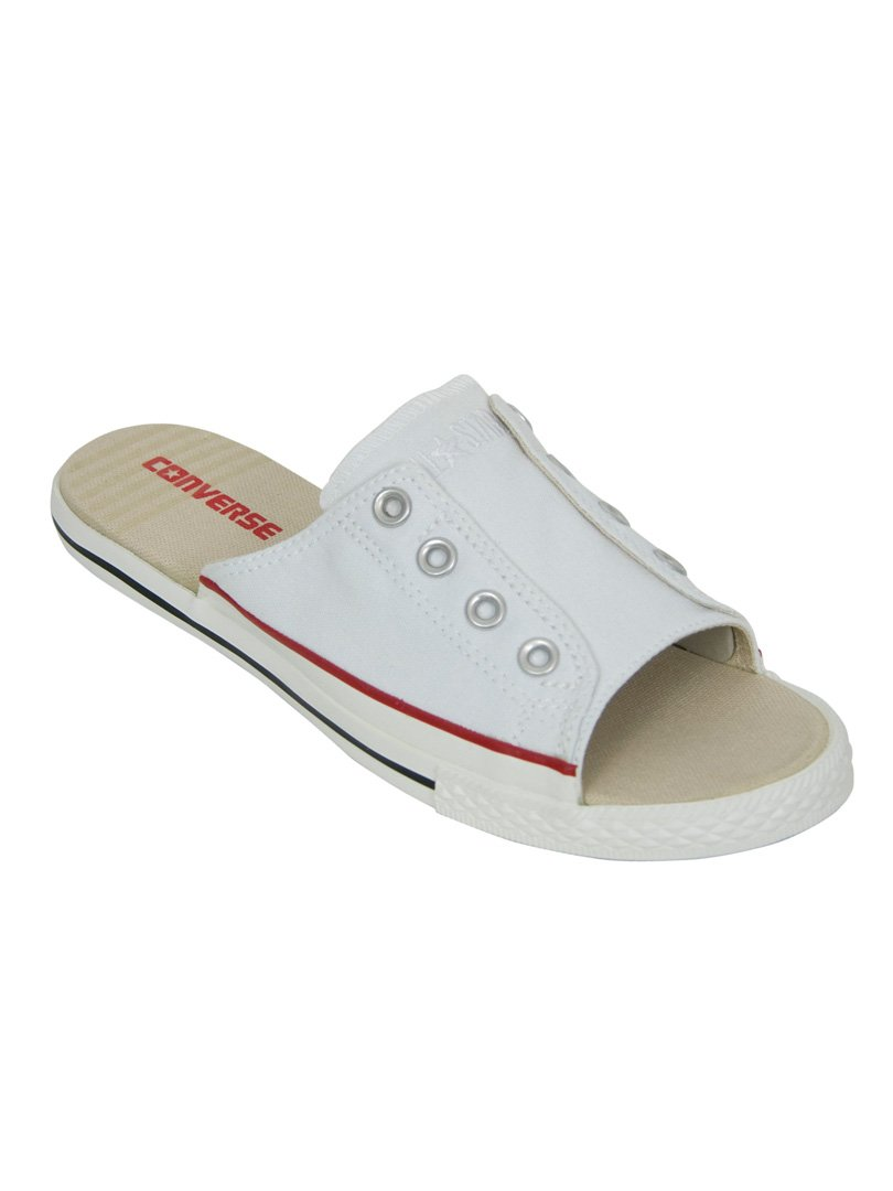 310c49acc40 Converse White Cutaway All Star Slip On Sandals