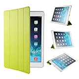 EasyAcc Ultra Slim iPad Air 2 Smart Case Cover with Stand / Auto Sleep Wake-up for Apple iPad Air 2/ iPad 6 (Top Premium PU Leather, Folded Cover Design, Green)