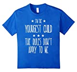 Kids Youngest Child - Why We Have Rules Funny Shirt 6 Royal Blue