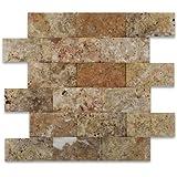 Travertine Tile Mosaic Natural Stone Flooring Backsplash