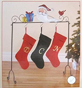 Freestanding floor christmas stocking holder santa clause design