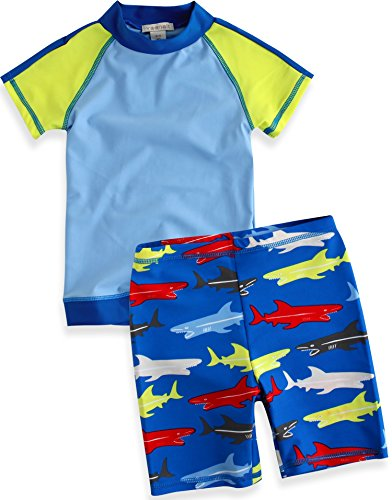 Vaenait Baby Baby Boys' Short Sleeve Swim Set Xs Green front-62276