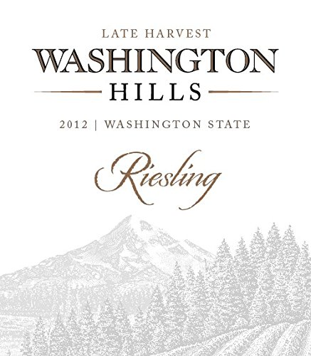 2012 Washington Hills Late Harvest Riesling, Washington 750 Ml