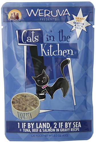 Weruva Cats In The Kitchen - 1 If By Land, 2 If By Sea- Tuna, Beef & Salmon In Gravy Recipe