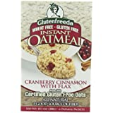 Glutenfreeda's Instant Oatmeal, Cranberry Cinnamon With Flax, 10.1 Ounce (Pack Of 8)