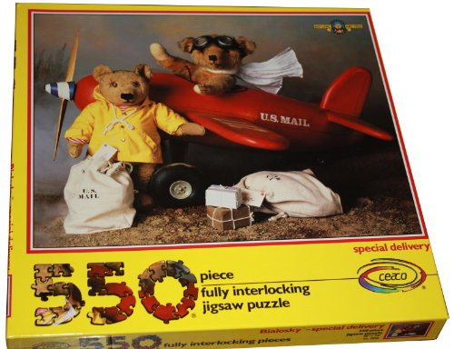 ceaco 550 Piece Puzzle Bialosky & Friends - Special Delivery - Features the Bears in a US Mail Airplane - 1