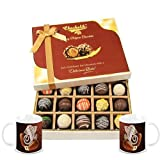 Chocholik Belgium Chocolates - Sweet Treat Of 20pc Truffle Box With Diwali Special Coffee Mugs - Diwali Gifts