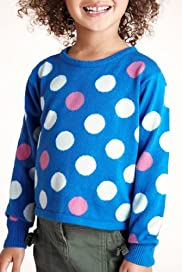 Pure Cotton Long Sleeve Spotted Jumper [T77-5694B-Z]