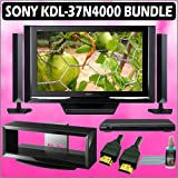 Sony Bravia N-Series KDL-37N4000 37in. 720P Widescreen LCD HDTV Black + Sony DVD Player w/ TV Stand