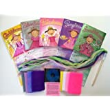 Pink, Emerald, Silver, Purple and Gold - Dancing Scarves and Wand with Magically Inspired Music (Set of All 5...