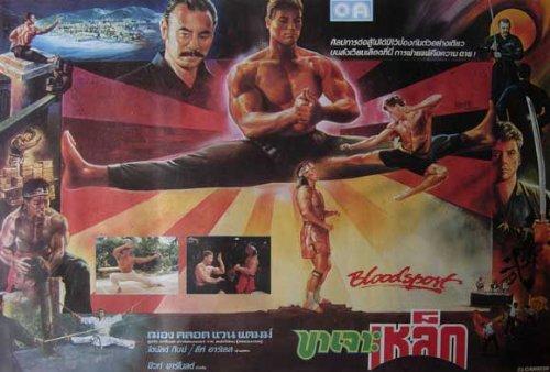 Bloodsport Poster Movie Thai 27 x 40 In - 69cm x 102cm Jean-Claude Van Damme Leah Ayres Roy Chiao Donald Gibb Bolo Yeung Norman Burton