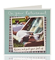 Relaxed Dog Retirement Greeting Card