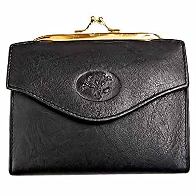 Buxton Heiress French Purse Wallet, Black, One Size