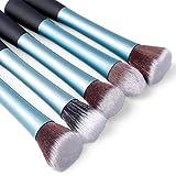 Fashion Century Lady - 5pcs Professional Women Makeup Brush Set Kit (5pcs X Brushes, Blue)