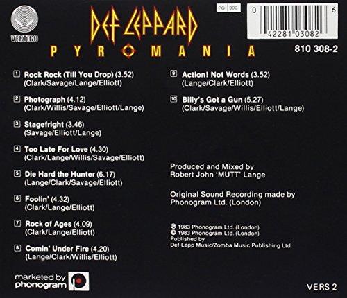 Original album cover of Pyromania by Def Leppard