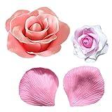 【Ever garden】 バラ 花 びら 成形 3D シリコンモールド / アロマハイストーン 石膏 / 手作り 石鹸 / レジン / 樹脂 粘土 / 型 抜き型
