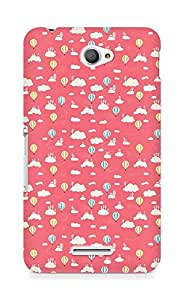 Amez designer printed 3d premium high quality back case cover for Sony Xperia E4 (air balloon )