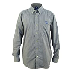 Kentucky Wildcats Focus Blue Buttondown Long Sleeve Shirt by Antigua