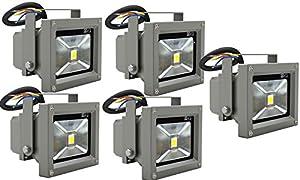 vidaXL LED Wandstrahler Flutlicht Fluter Strahler Scheinwerfer 5 Stk 230V 10W IP65 Spot